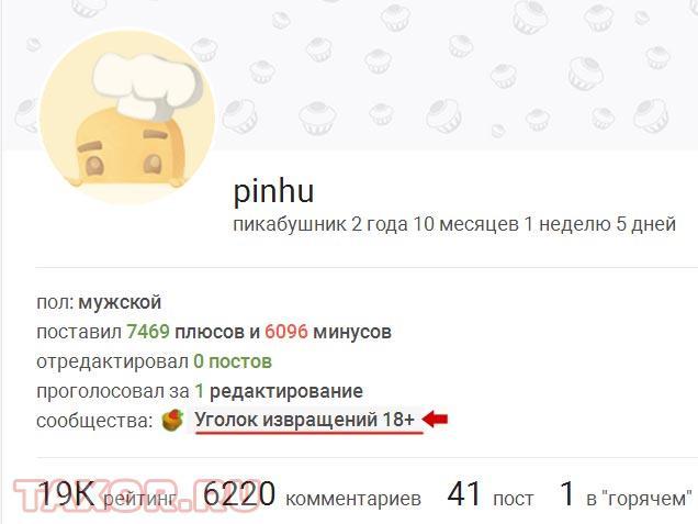 Любимые сообщества пользователя PINHU