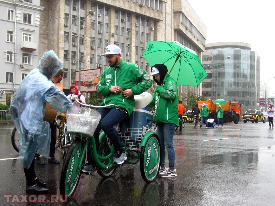 С грузом пива для участников велопарада — не самая удачная идея