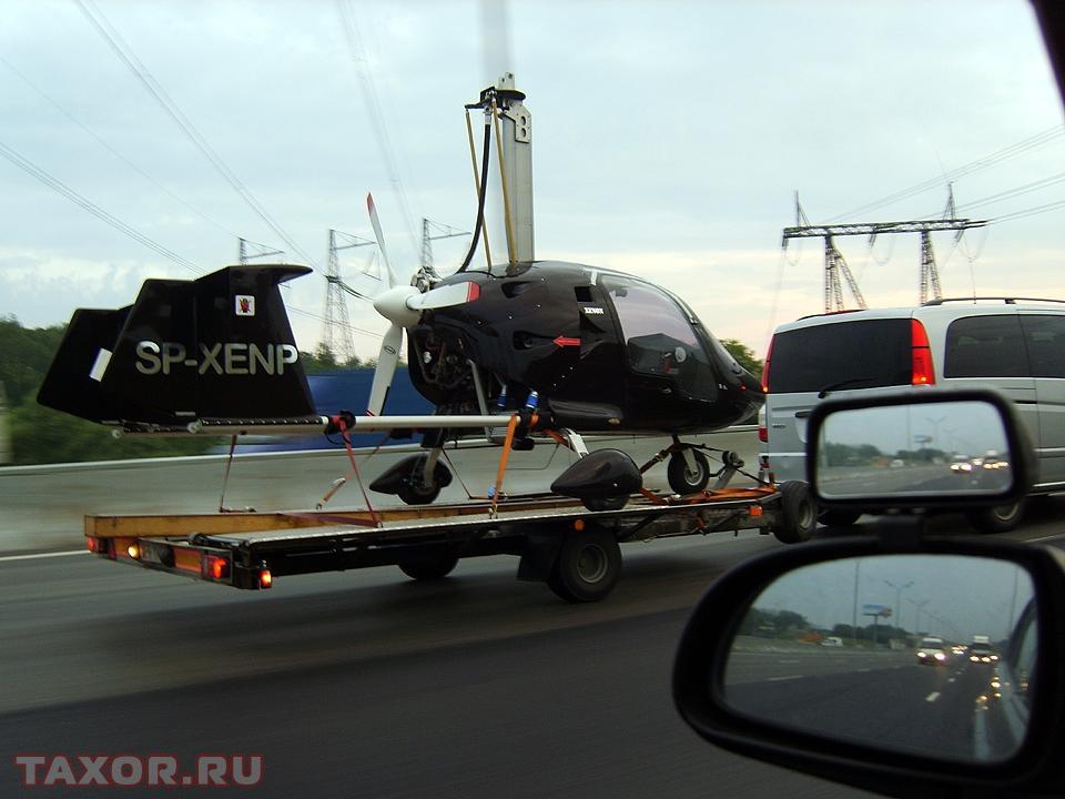 Перевозка летательного аппарата на прицепе