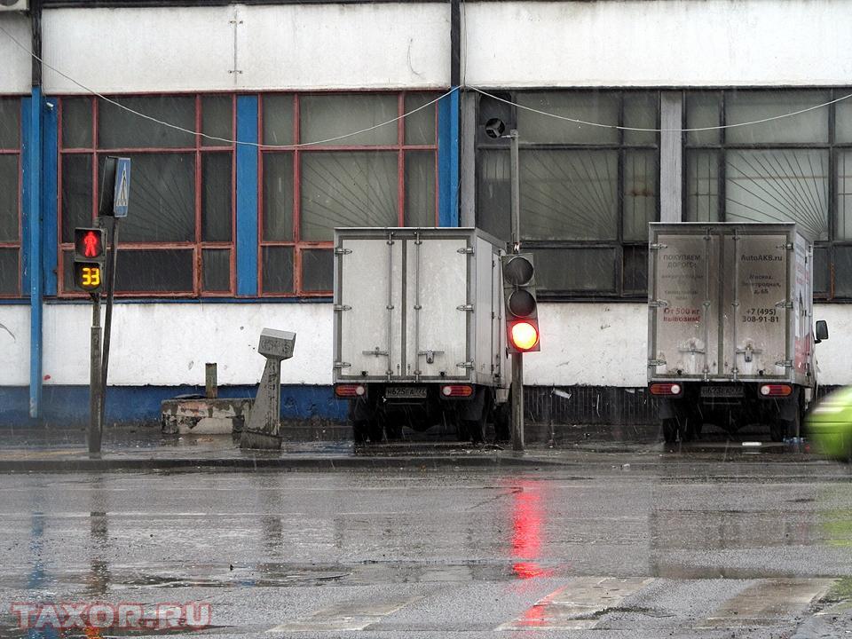 Светофор на одном из московскимх перекрёстков