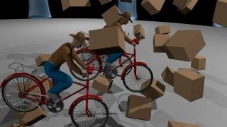Три велосипеда, три весёлых друга