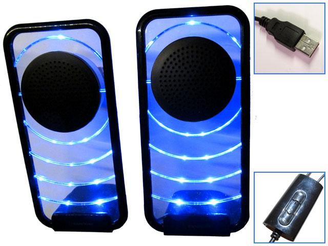 Светодиодные настольные аудиоколонки Soundtronix SP-120