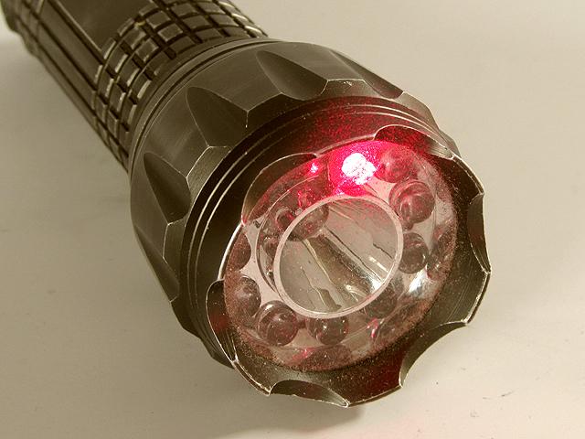 Четвёртый режим работы фонарика — лазерная указка