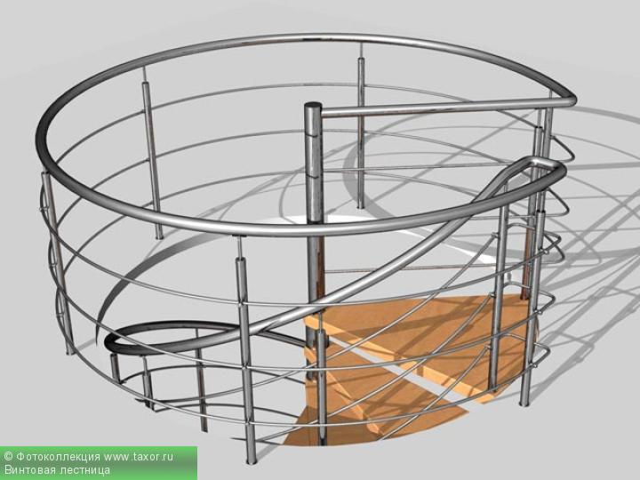 Галерея: 3D-галерея — Винтовая лестница