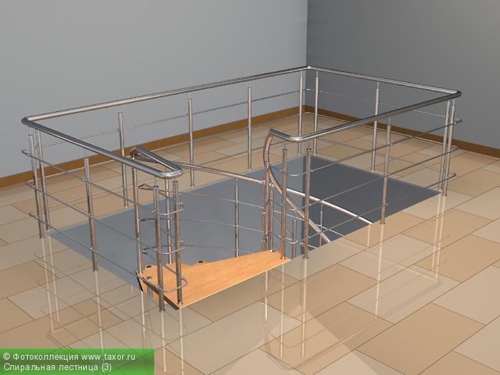 Галерея: 3D-галерея — Спиральная лестница (3)