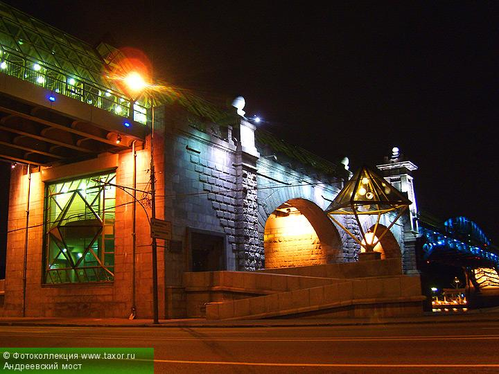 Галерея: Ночная Москва — Андреевский мост