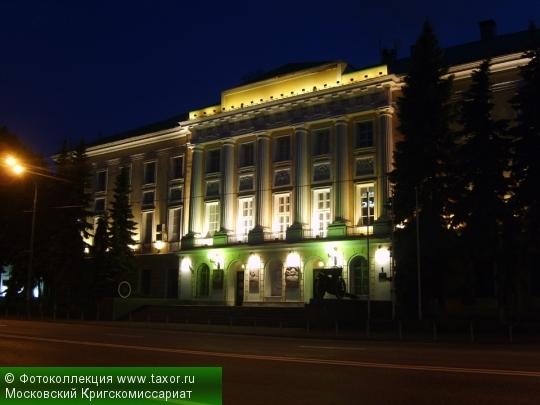 Галерея: Ночная Москва — Московский Кригскомиссариат