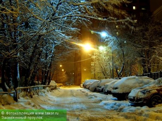 Галерея: Ночная Москва — Заснеженный проулок