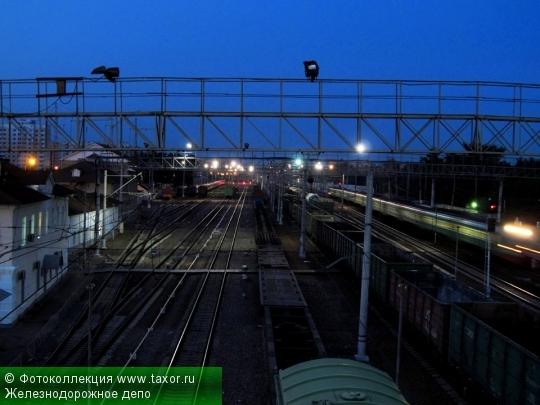 Галерея: Ночная Москва — Железнодорожное депо