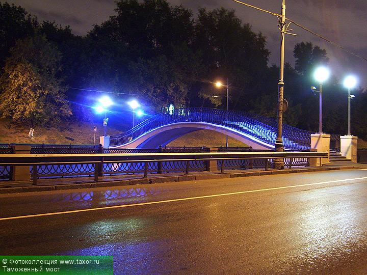 Галерея: Ночная Москва — Таможенный мост