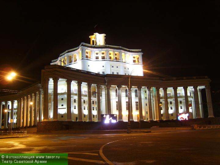 Галерея: Ночная Москва — Театр Советской Армии