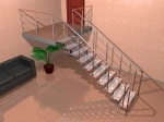 Стринговая (прямая) лестница (1) - увеличить фотографию