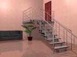 Стринговая (прямая) лестница (2) - увеличить фотографию