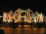 Световая композиция у фасада Большого театра - увеличить фотографию