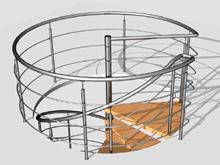Верхняя часть спиральной лестницы для сайта www.tstandart.ru